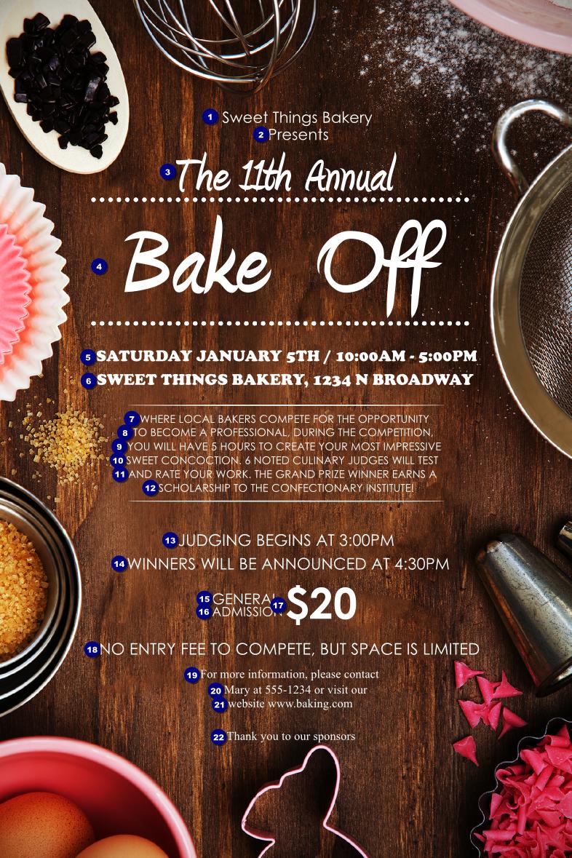 baking poster
