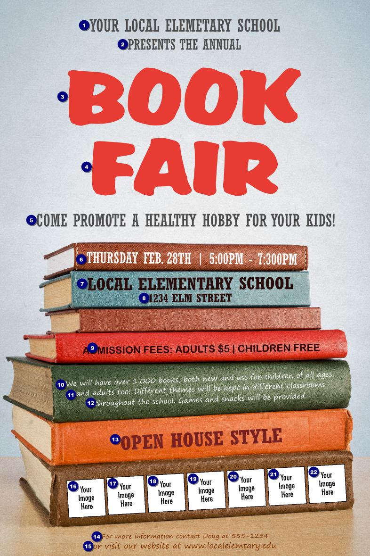 Book Fair Logo Poster | Canada Ticket Printing