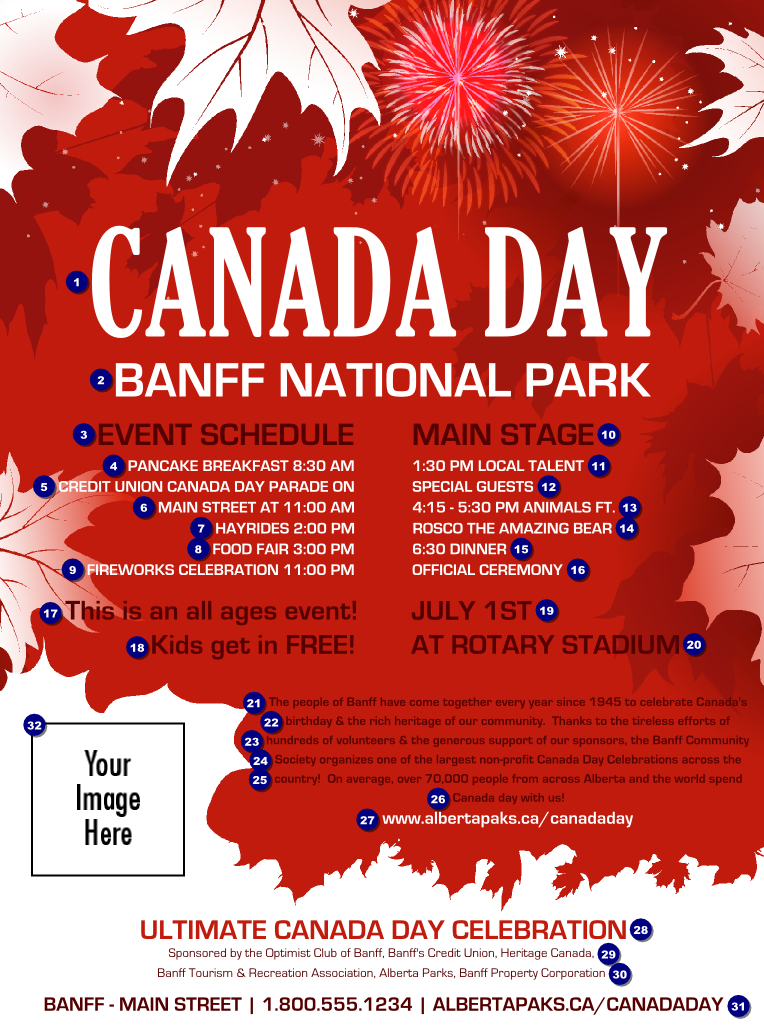 canada day flyer canada ticket printing. Black Bedroom Furniture Sets. Home Design Ideas