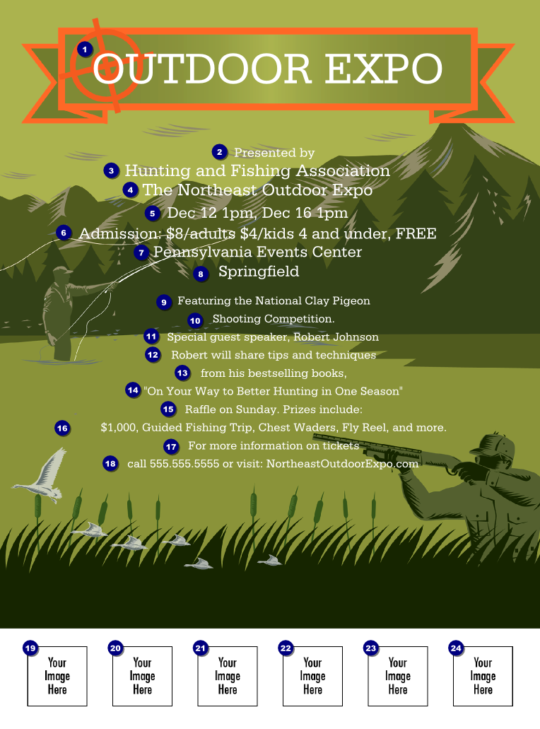 Fishing and Hunting Expo Flyer | Canada Ticket Printing