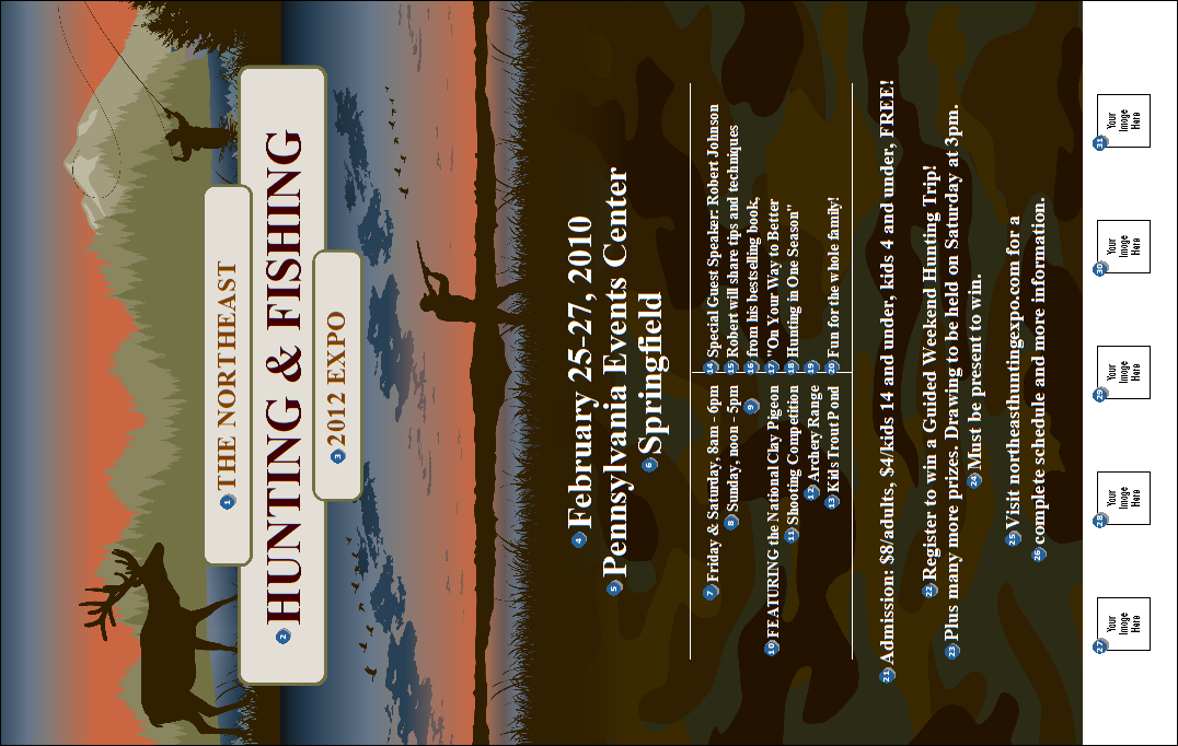 Fishing and hunting expo poster canada ticket printing for Hunting and fishing expo
