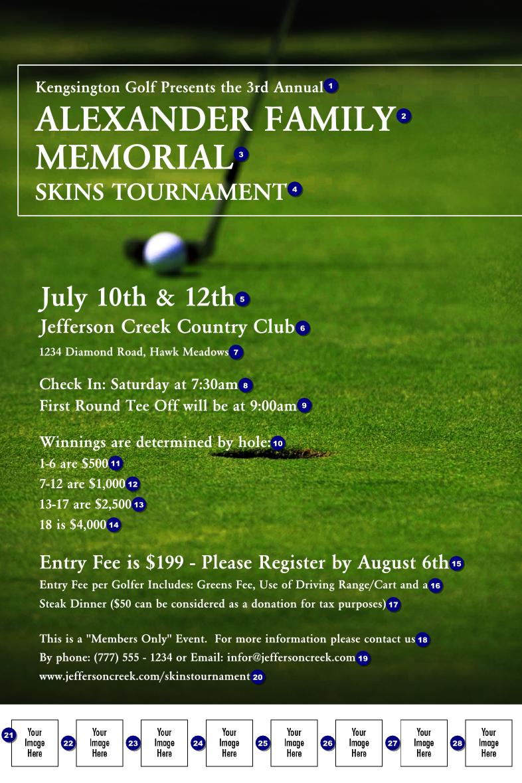golf photo logo poster canada ticket printing