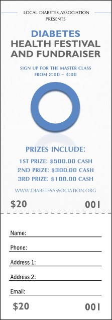 Diabetes Raffle Ticket