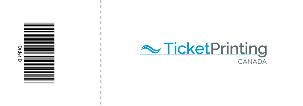 Hockey Event Ticket Product Back