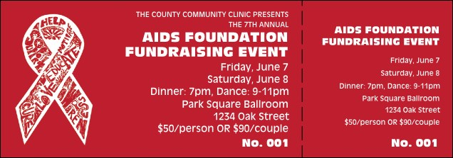 aids fundraising event ticket