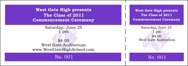 Graduation General Admission Ticket 006