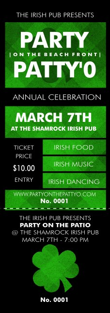 St. Patrick's Day Plaid Event Ticket