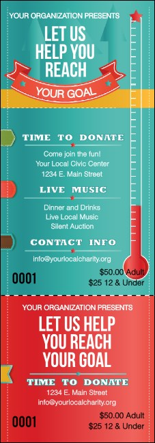 Fundraising Thermometer Event Ticket