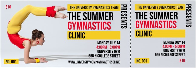 Retro Gymnastics Event Ticket