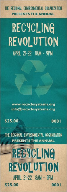 Recycling Symbol Event Ticket