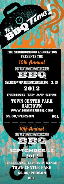 Bbq kettle grill event ticket for Bbq tickets template