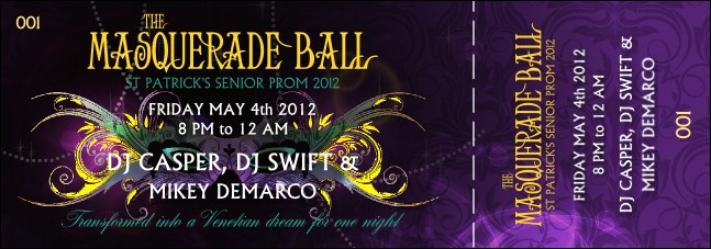 Masquerade Ball Event Ticket