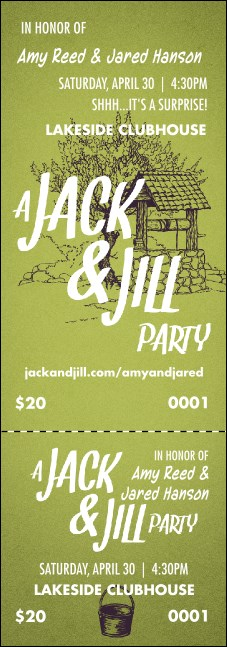 Jack and jill event ticket for Jack and jill ticket templates