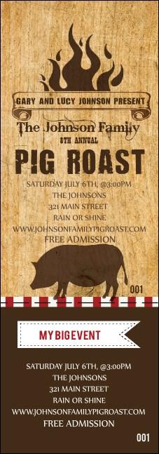 pig roast event ticket. Black Bedroom Furniture Sets. Home Design Ideas