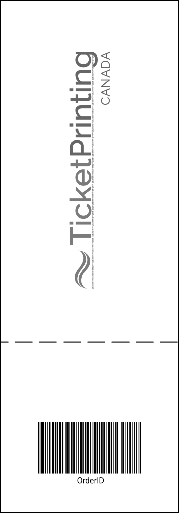 Black Tie Event Ticket Product Back