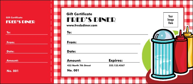 dining gift certificate template - diner gift certificate