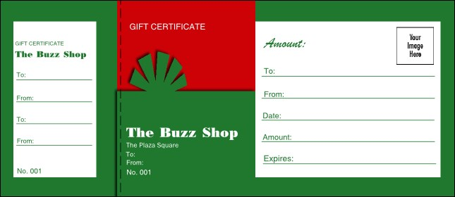 Present Gift Certificate 006