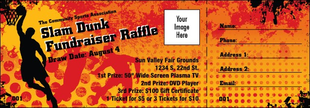 basketball raffle ticket