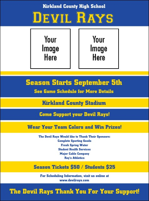Sports Flyer 002 in Blue and Yellow