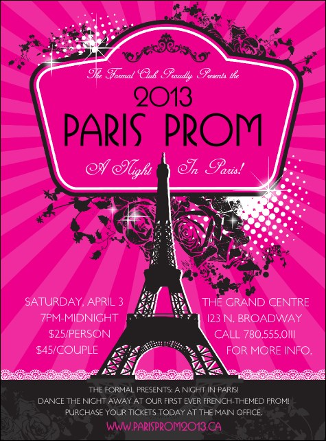 Paris Pink and Black Flyer