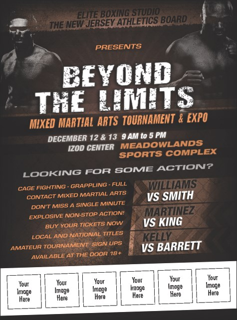 MMA Main Event Logo Flyer (Brown)