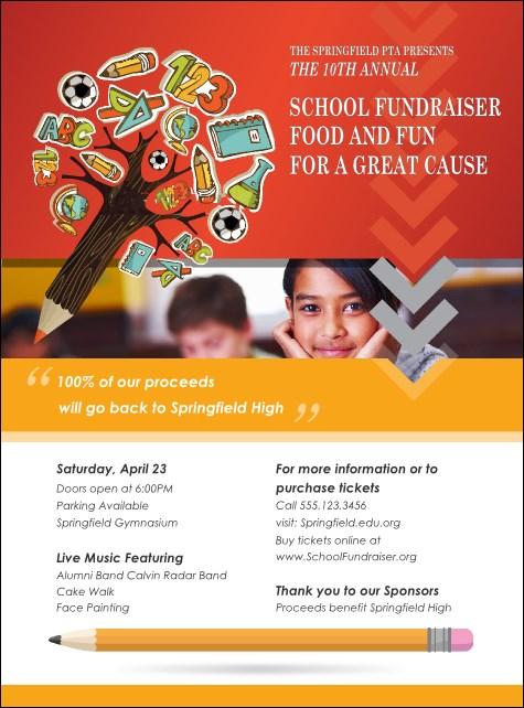 Fundraiser Education Logo Flyer