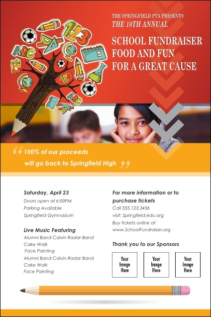 Fundraiser Education Logo Flyer