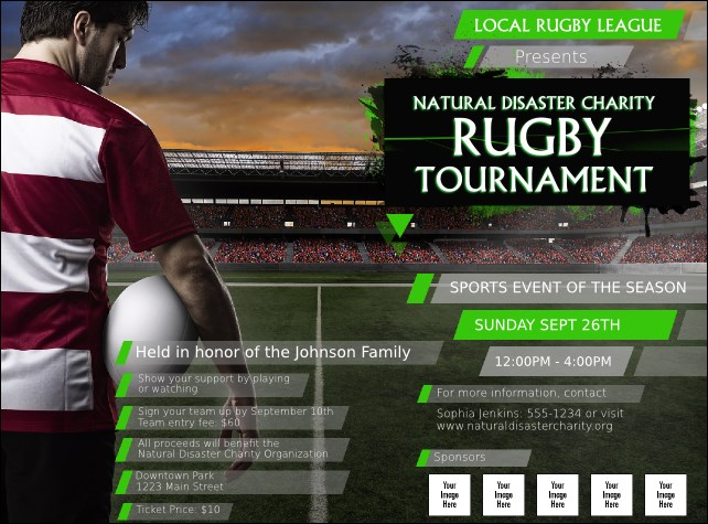 Rugby Stadium Flyer