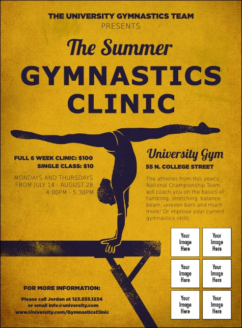 Gymnastics Logo Flyer