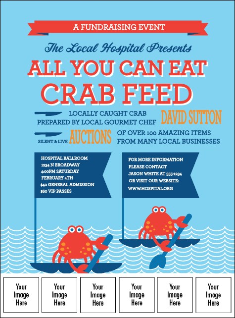 Crab Feed Logo Flyer