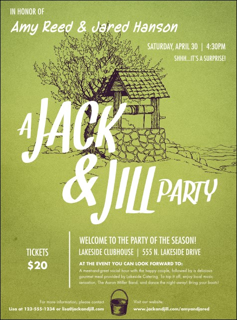 Jack and jill flyer for Jack and jill tickets templates