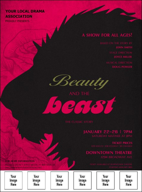 Beauty and the Beast Logo Flyer
