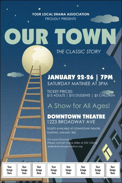 Our Town Logo Poster