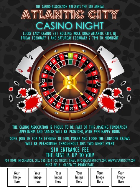 Casino Logo Flyer Product Front