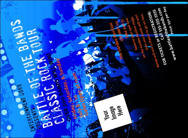 Rock Concert Blue Invitation Product Front