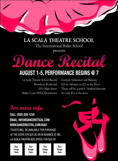 Dance Recital Invitation