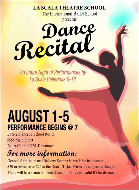 ballerina recital invitations template quotes