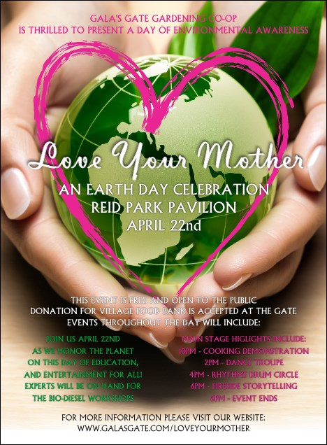 Earth Day Heart Invitation