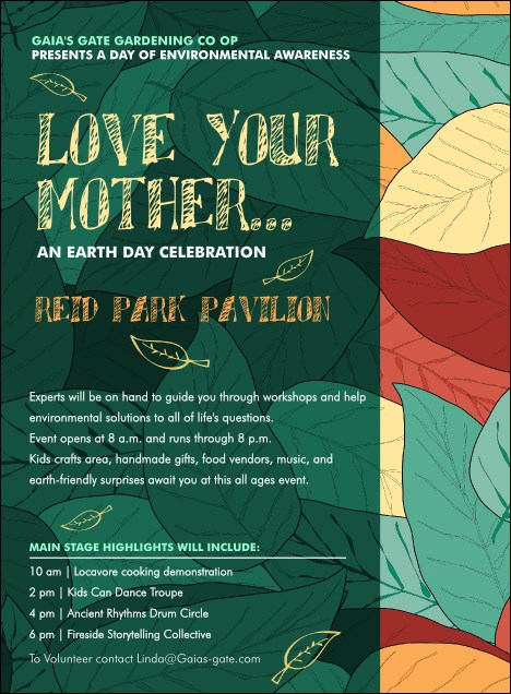 Earth Day Organic Invitation
