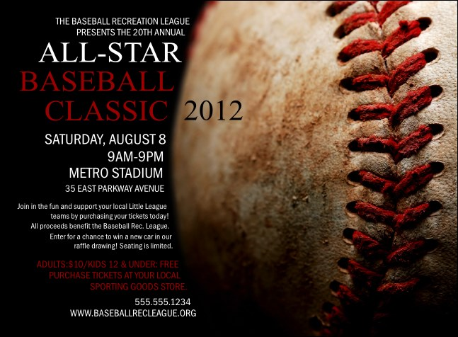 Baseball Stiches Invitation