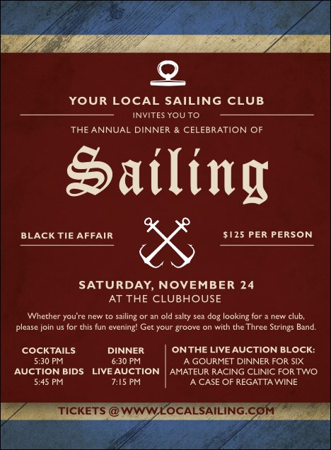 Sailing Invitation