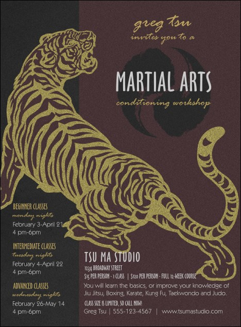 Martial Arts Invitation