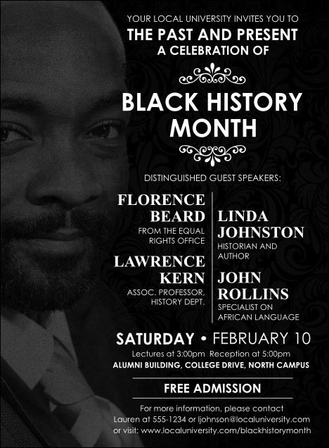 Black History Month Invitation