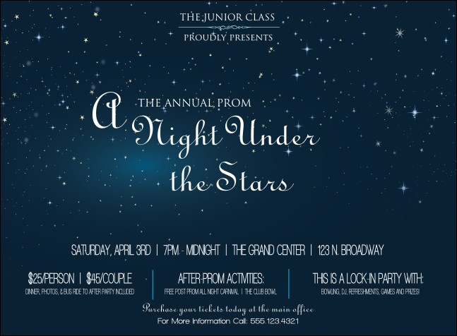 Star Theme Invitation