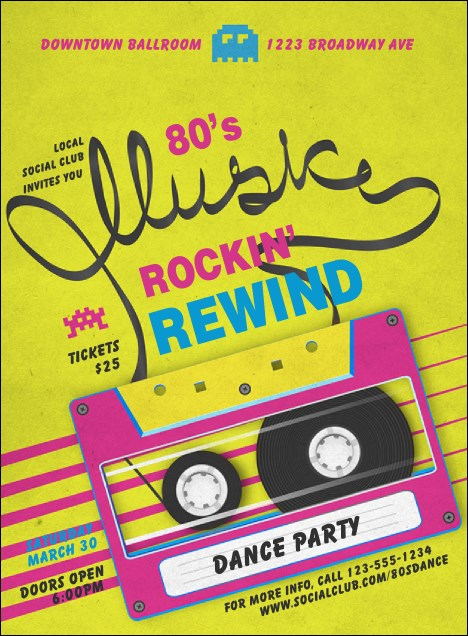 80s Music Invitation