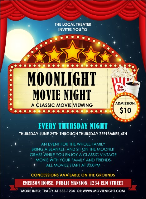 Movie Night Invitation Product Front