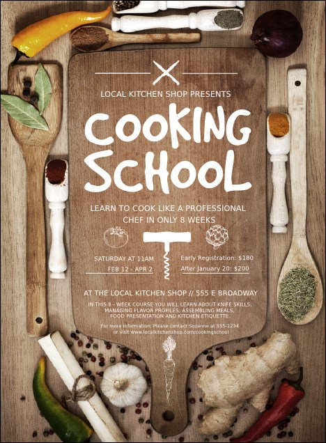Cooking School Invitation