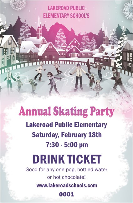 Skating Party Drink Ticket Product Front