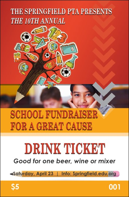 Fundraiser Education Drink Ticket