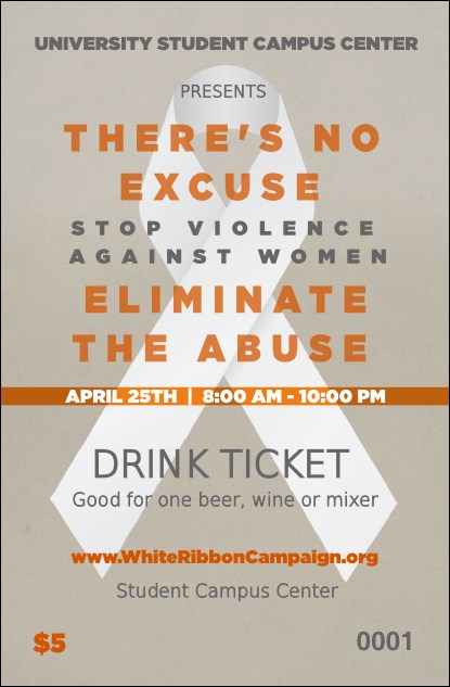 White Ribbon Drink Ticket Product Front